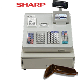 Sharp Registrierkasse XE-A307 in lichtgrau